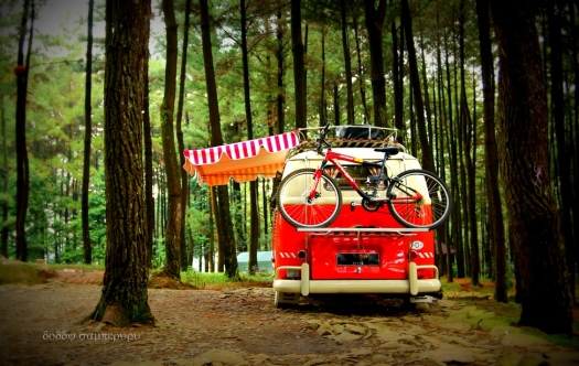 The bike carrier. Location: Gunung Pancar, Bogor.
