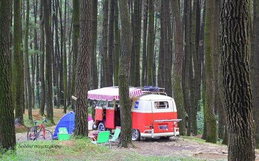 Good access road & a flat place is a suitable location to set up the campervan. Location: Gunung Pancar, Bogor.