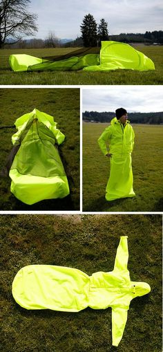 A tent that you can wear as a jacket. Finally, camping is fashionable again!