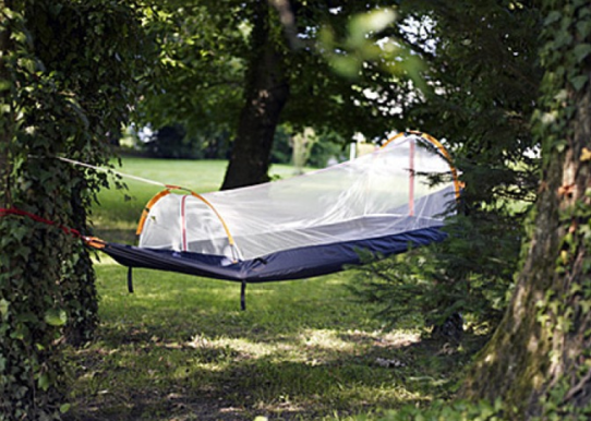 All the protection of a tent meets all of the laid-back chillness of a hammock.