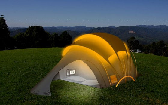 This tent absorbs sunlight during the daytime so it can illuminate the nighttime. Never get lost on your way back from peeing in the bushes again.