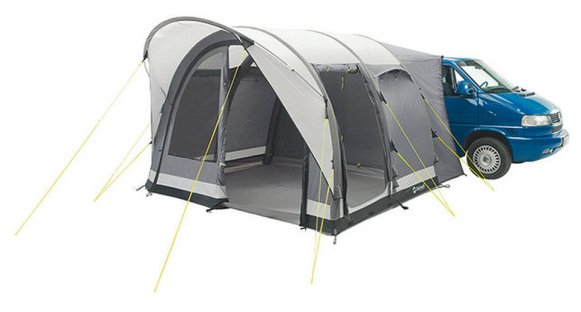 California Highway – £545 If you're looking for a decent mid-range awning, the California Highway drive-away is an excellent addition to any Camper.  It sports plenty of living space and can comfortably fit five adults.  If you're planning to have some friends stay over, an optional inner tent adds an extra bedroom.  Quick and easy to erect, the secure attachment systems ensures hassle-free arrivals and departures. www.justkampers.com