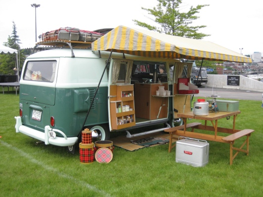 Another classic split bus camper.