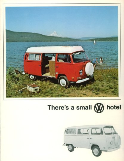 There's a small VW hotel.
