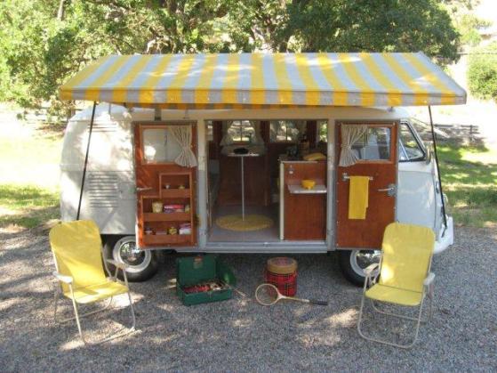 A split bus campervan never make us bored.