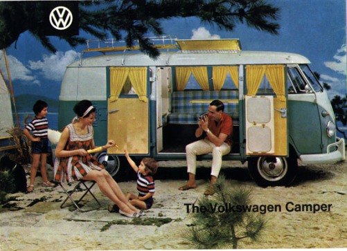 Another classic illustrative campervan advertisement.