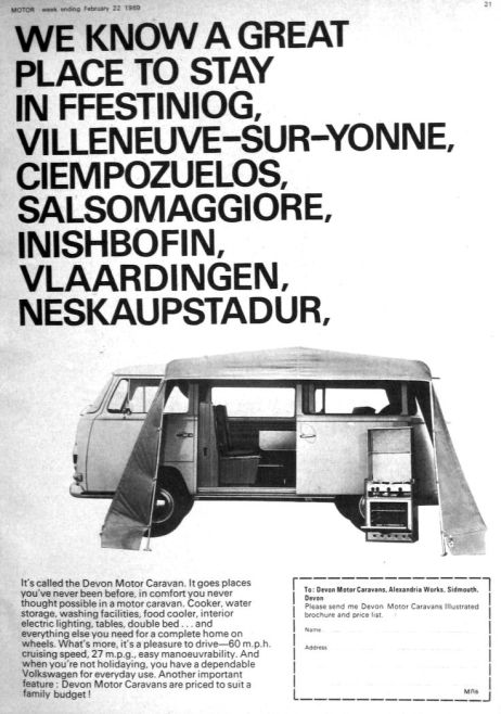 A classic Devon advertisement, 1969.