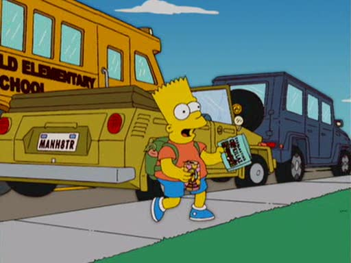 A The Thing appeared in Bart Simpson TV Series....